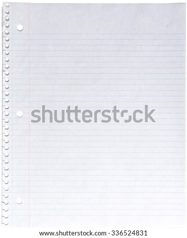 Looseleaf Paper - Isolated