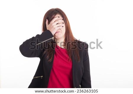 Looser business girl - stock photo