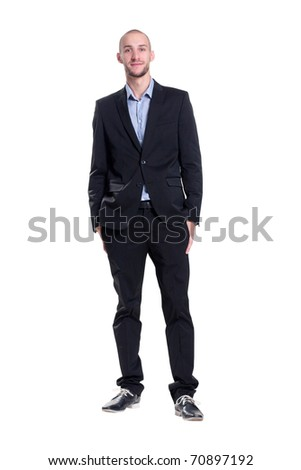 lop-eared attractive young businessman - stock photo