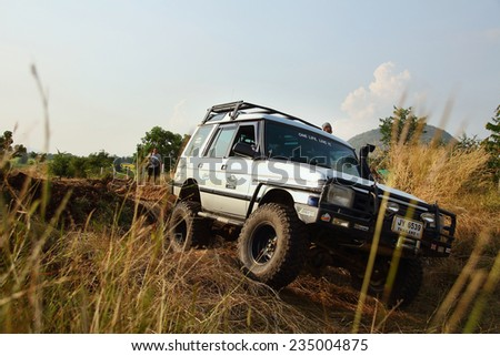 Lopburi,Thailand - November 29: Land Rover off road events, The aggregate annual rally of the Land Rover lovers in Thailand. on November 29, 2014, in Lopburi, Thailand. - stock photo