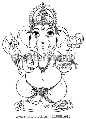 Lord Ganesha of Hindus God. - stock photo