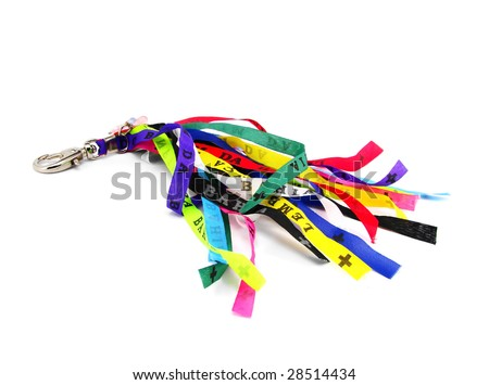 lord of bonfim key chain isolated on white