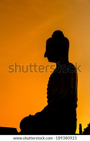 Lord of Buddha in sunset time