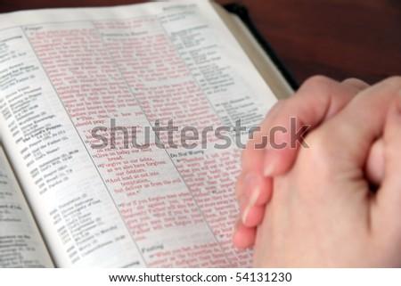 Lord's prayer - stock photo