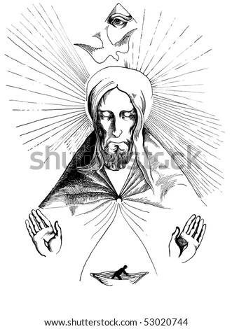 Lord save our souls - stock photo