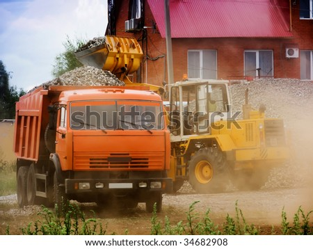 Lorry and loader