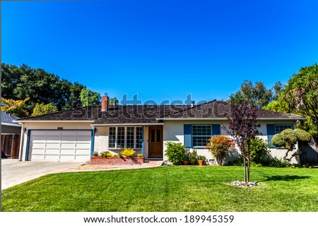 LOS ALTOS CA / USA NOVEMBER 12: Famous garage where Steve Jobs and Steve Wozniak assembled their first computer the Apple I in 1976. - stock photo