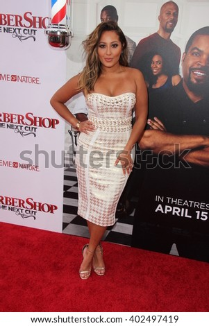 LOS ANGELES - APR 6:  Adrienne Bailon at the Barbershop - The Next Cut Premiere at the TCL Chinese Theater on April 6, 2016 in Los Angeles, CA - stock photo
