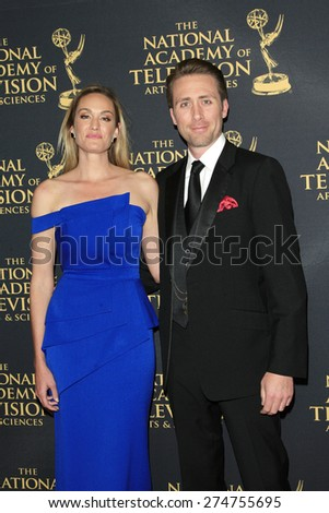 LOS ANGELES - APR 24: Ashlan Gorse, Philippe Cousteau at The 42nd Daytime Creative Arts Emmy Awards Gala at the Universal Hilton Hotel on April 24, 2015 in Los Angeles, California - stock photo