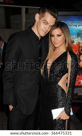 LOS ANGELES - APR 11 - Ashley Tisdale and Chris French arrives at the Scary Movie V Los Angeles Premiere on April 11, 2013 in Los Angeles, CA