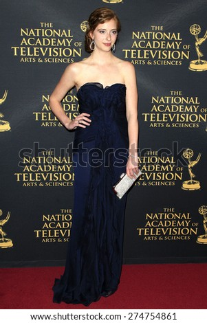 LOS ANGELES - APR 24: Ashlyn Pearce at The 42nd Daytime Creative Arts Emmy Awards Gala at the Universal Hilton Hotel on April 24, 2015 in Los Angeles, California - stock photo
