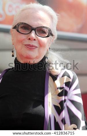 LOS ANGELES - APR 28:  Barbara Bain at the Bairbara Bain Hollywood Walk of Fame Star Ceremony at the Hollywood Walk of Fame on April 28, 2016 in Los Angeles, CA - stock photo
