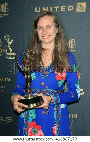 LOS ANGELES - APR 29: Bianca Giaever at The 43rd Daytime Creative Arts Emmy Awards Gala at the Westin Bonaventure Hotel on April 29, 2016 in Los Angeles, California - stock photo
