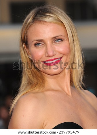 "LOS ANGELES - APR 21:  Cameron Diaz arrives to the The Bridge"" Season 2 Premiere Screening  on April 21, 2014 in Westwood, CA                 - stock photo"