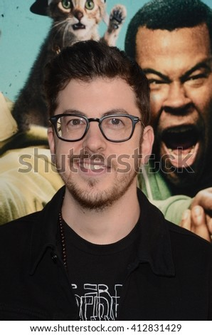 LOS ANGELES - APR 21:  Christopher Mintz-Plasse at the Keanu Los Angeles Premiere at the ArcLight Hollywood Theaters on April 21, 2016 in Los Angeles, CA - stock photo