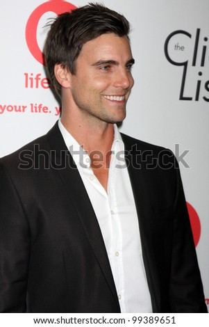"LOS ANGELES - APR 4:  Colin Egglesfield arriving at the ""The Client List"" Launch Party at Sunset Tower Hotel on April 4, 2012 in West Hollywood, CA"