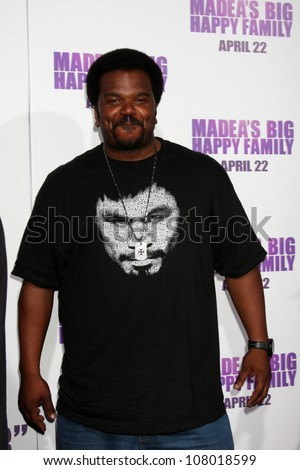 "LOS ANGELES - APR 19:  Craig Robinson arriving at the ""Madea's Big Happy Family"" Premiere at ArcLight Cinemas Cinerama Dome on April 19, 2011 in Los Angeles, CA.. - stock photo"