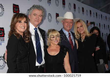 "LOS ANGELES - APR 12:  Dallas Cast arrives at  ""Television: Out of the Box"" Exhibit Launch at Paley on April 12, 2012 in Beverly Hil - stock photo"
