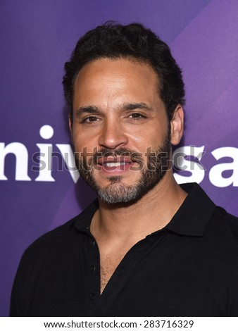 LOS ANGELES - APR 02:  Daniel Sunjata arrives to the NBCUniversal's Summer Press Day 2015  on April 02, 2015 in Hollywood, CA                 - stock photo