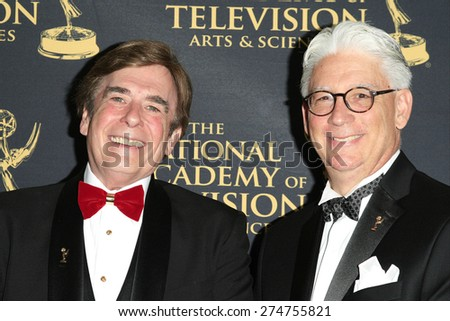 LOS ANGELES - APR 24: David Michaels, Bob Mauro at The 42nd Daytime Creative Arts Emmy Awards Gala at the Universal Hilton Hotel on April 24, 2015 in Los Angeles, California - stock photo