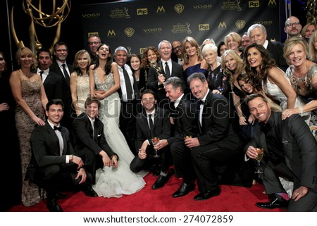 LOS ANGELES - APR 26:  Days of Our Lives Cast - Co-Winner, Best Drama at the 2015 Daytime Emmy Awards at the Warner Brothers Studio Lot on April 26, 2015 in Burbank, CA - stock photo