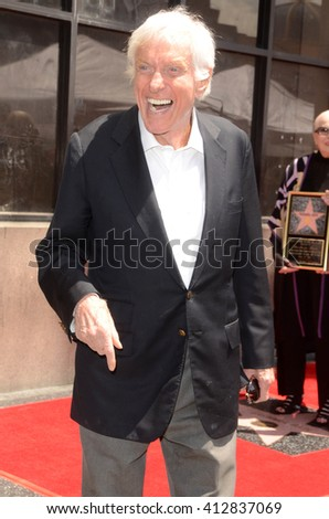 LOS ANGELES - APR 28:  Dick Van Dyke at the Bairbara Bain Hollywood Walk of Fame Star Ceremony at the Hollywood Walk of Fame on April 28, 2016 in Los Angeles, CA - stock photo