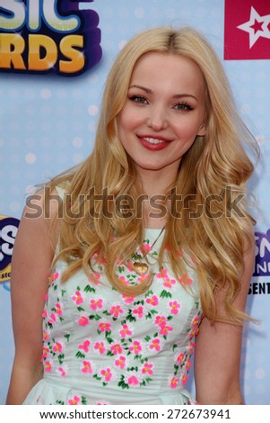 LOS ANGELES - APR 25:  Dove Cameron at the Radio DIsney Music Awards 2015 at the Nokia Theater on April 25, 2015 in Los Angeles, CA - stock photo