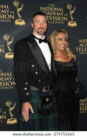 LOS ANGELES - APR 24: Dr Pete Black, Rachel Reenstra at The 42nd Daytime Creative Arts Emmy Awards Gala at the Universal Hilton Hotel on April 24, 2015 in Los Angeles, California - stock photo
