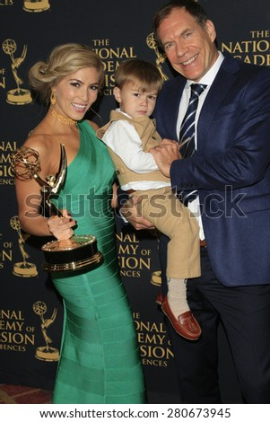 LOS ANGELES - APR 24: Elizabeth Ashley, Matthew Gerrard at The 42nd Daytime Creative Arts Emmy Awards Gala at the Universal Hilton Hotel on April 24, 2015 in Los Angeles, California - stock photo
