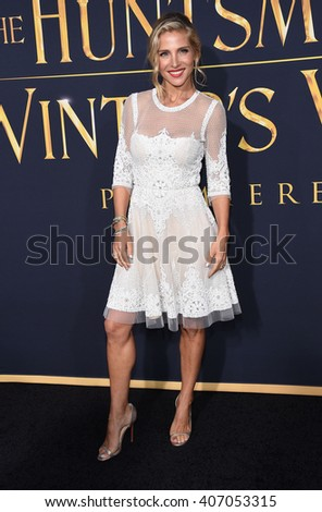 "LOS ANGELES - APR 11:  Elsa Pataky arrives to the ""The Huntsman: Winter's War"" LA Premiere  on April 11, 2016 in Los Angeles, CA.                 - stock photo"