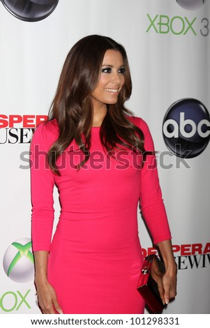 "LOS ANGELES - APR 29:  Eva Longoria arrives at the ""Desperate Housewives"" Wrap Party at W Hollywood Hotel on April 29, 2012 in Los Angeles, CA - stock photo"