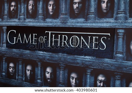 LOS ANGELES - APR 10:  Games of Thrones Atmosphere at the Game of Thrones Season 6 Premiere Screening at the TCL Chinese Theater IMAX on April 10, 2016 in Los Angeles, CA - stock photo