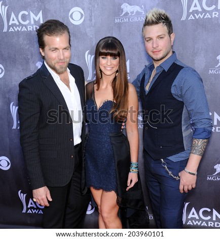 LOS ANGELES - APR 06:  Gloriana arrives to the 49th Annual Academy of Country Music Awards   on April 06, 2014 in Las Vegas, NV.                 - stock photo