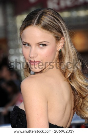 "LOS ANGELES - APR 13:  Halston Sage arrives to the ""Neighbors"" World Premiere  on April 28, 2014 in Westwood, CA.                 - stock photo"