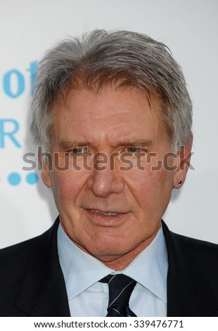 LOS ANGELES - APR 9 - Harrison Ford  arrives at the 42 Los Angeles Premiere on April 9,  2013 in Los Angeles, CA              - stock photo