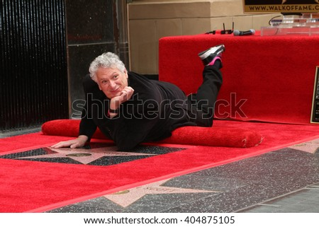 LOS ANGELES - APR 11:  Harvey Fierstein at the Harvey Fierstein and Cyndi Lauper Hollywood Walk of Fame Ceremony at the Pantages Theater on April 11, 2016 in Los Angeles, CA - stock photo