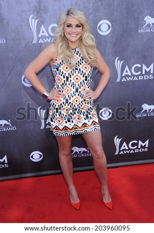 LOS ANGELES - APR 06:  Jamie Lynn Spears arrives to the 49th Annual Academy of Country Music Awards   on April 06, 2014 in Las Vegas, NV.                 - stock photo