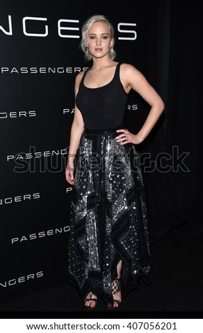 LOS ANGELES - APR 12: Jennifer Lawrence arrives to the Cinema Con 2016: Sony Pictures Presentation on April 12, 2016 in Las Vegas, NV.                 - stock photo