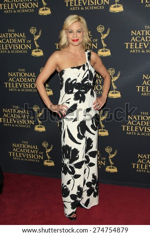 LOS ANGELES - APR 24: Jessica Collins at The 42nd Daytime Creative Arts Emmy Awards Gala at the Universal Hilton Hotel on April 24, 2015 in Los Angeles, California - stock photo