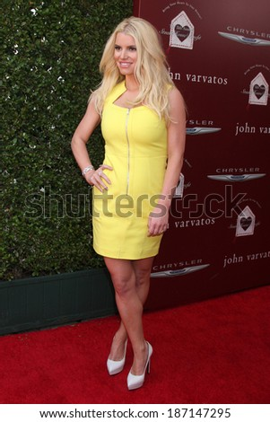 LOS ANGELES - APR 13:  Jessica Simpson at the John Varvatos 11th Annual Stuart House Benefit at  John Varvatos Boutique on April 13, 2014 in West Hollywood, CA - stock photo