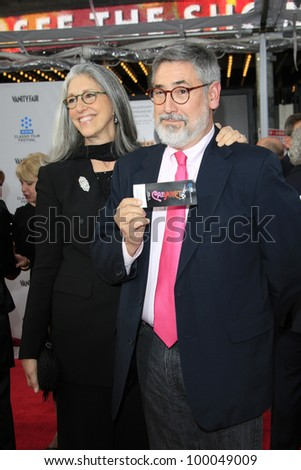 LOS ANGELES - APR 12: John Landis, Deborah Landis at the TCM Classic Film Festival opening night premiere - 40th anniversary restoration of 'Cabaret' on April 12, 2012 in Los Angeles, California - stock photo