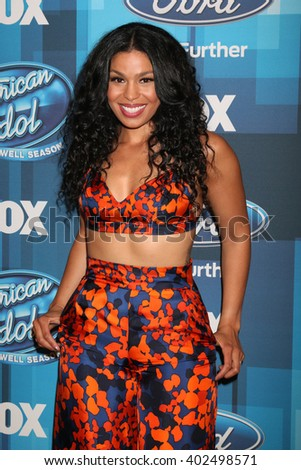 LOS ANGELES - APR 7:  Jordin Sparks at the American Idol FINALE Arrivals at the Dolby Theater on April 7, 2016 in Los Angeles, CA - stock photo