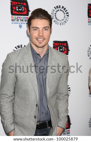 "LOS ANGELES - APR 12:  Josh Henderson arrives at Warner Brothers ""Television: Out of the Box"" Exhibit Launch at Paley Center for Media on April 12, 2012 in Beverly Hills, CA - stock photo"