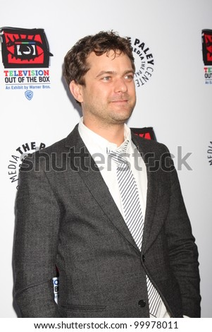 "LOS ANGELES - APR 12:  Joshua Jackson arrives at Warner Brothers ""Television: Out of the Box"" Exhibit Launch at Paley Center for Media on April 12, 2012 in Beverly Hills, CA - stock photo"