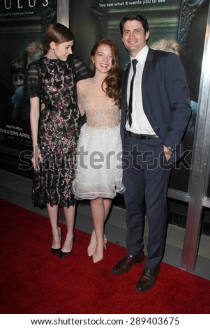 "LOS ANGELES - APR 3:  Karen Gillan, Annalise Basso, James Lafferty at the ""Oculus"" Los Angeles Screening at the TCL Chinese 6 Theaters on April 3, 2014 in Los Angeles, CA"