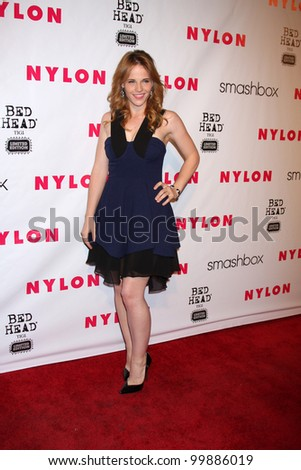 LOS ANGELES - APR 10:  Katie Leclerc arrives at the NYLON Magazine 13th Anniversary Celebration at Smashbox on April 10, 2012 in Los Angeles, CA - stock photo