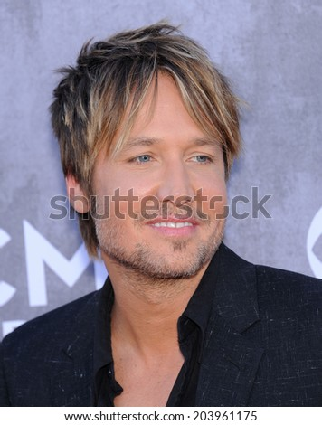 LOS ANGELES - APR 06:  Keith Urban arrives to the 49th Annual Academy of Country Music Awards   on April 06, 2014 in Las Vegas, NV.                 - stock photo
