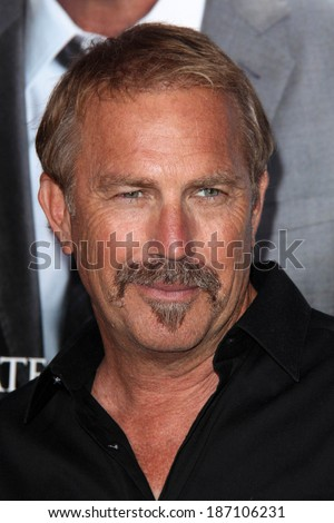 "LOS ANGELES - APR 7:  Kevin Costner at the ""Draft Day"" Premiere at Village Theater on April 7, 2014 in Westwood, CA"