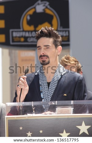 "LOS ANGELES - APR 22:  Kevin Richardson at the ceremony for the ""Backstreet Boys"" Star on the Walk of Fame at the Hollywood Walk of Fame on April 22, 2013 in Los Angeles, CA"