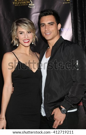 LOS ANGELES - APR 27:  Linsey Godfrey, Marco James Marquez at the 2016 Daytime EMMY Awards Nominees Reception at the Hollywood Museum on April 27, 2016 in Los Angeles, CA